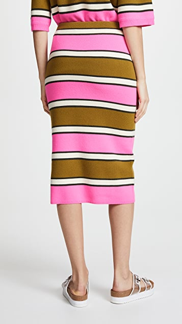Marc Jacobs Striped Pencil Skirt