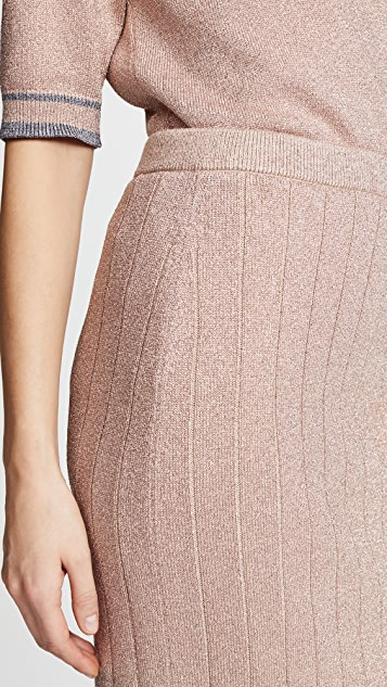 Marc Jacobs Metallic Pencil Skirt
