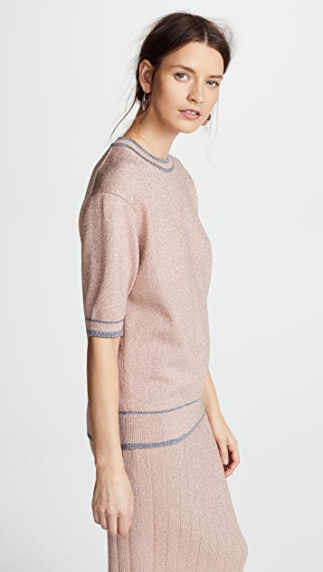 Marc Jacobs Metallic Crew Neck Sweater