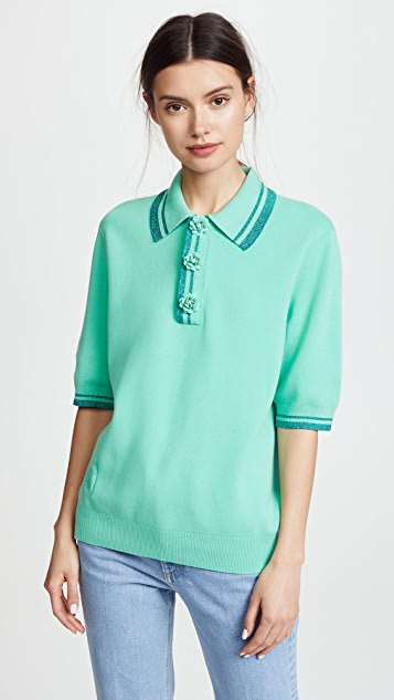 Marc Jacobs Short Sleeve Polo Shirt with Contrast Tips