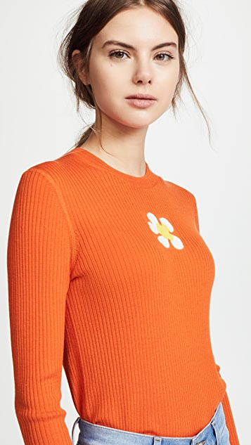 Marc Jacobs Long Sleeve Sweater with Crew Neckline