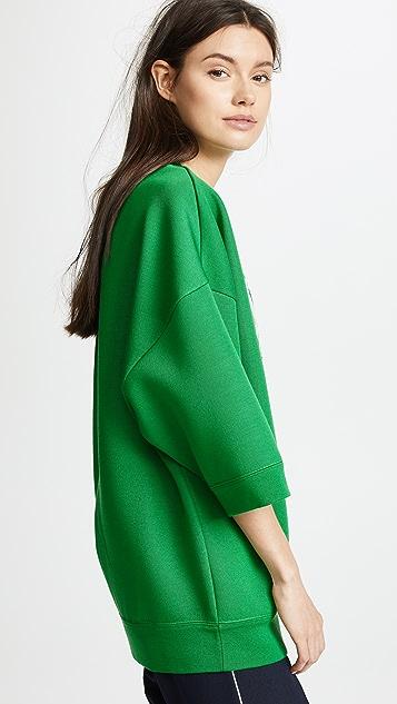 Marc Jacobs Sprite Sweatshirt with Short Sleeves & Crew Neckline