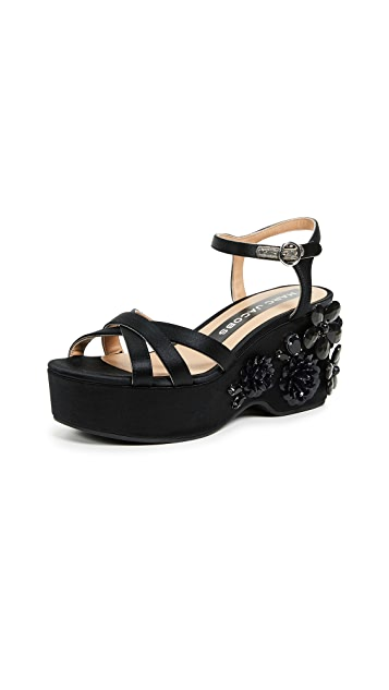 Marc Jacobs Callie Embellished Wedge Sandals