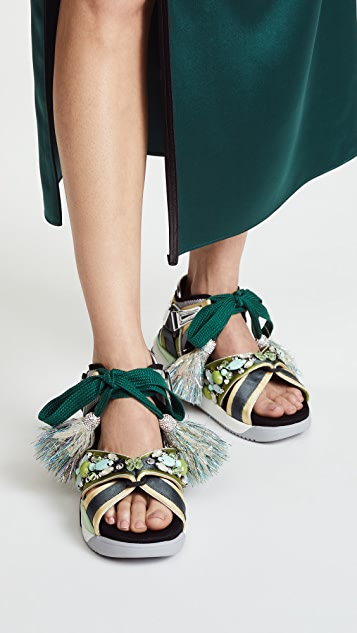Marc Jacobs Somewhere Embellished Sport Sandals