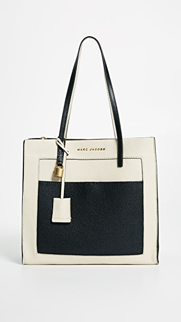 Marc Jacobs The Grind Colorblocked Tote - Cloud White Multi
