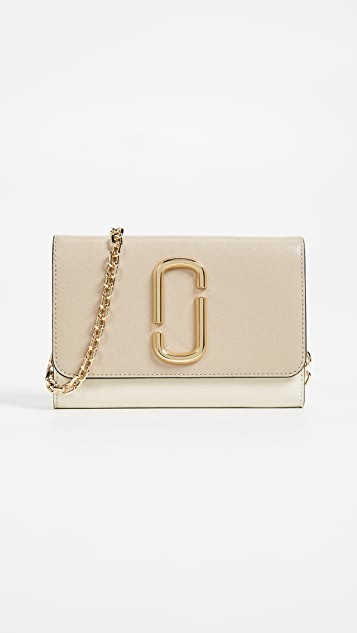 Marc Jacobs Snapshot Wallet on Chain - Light Slate