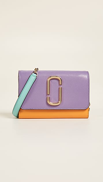 Marc Jacobs Snapshot Wallet on Chain - Hyacinth Multi