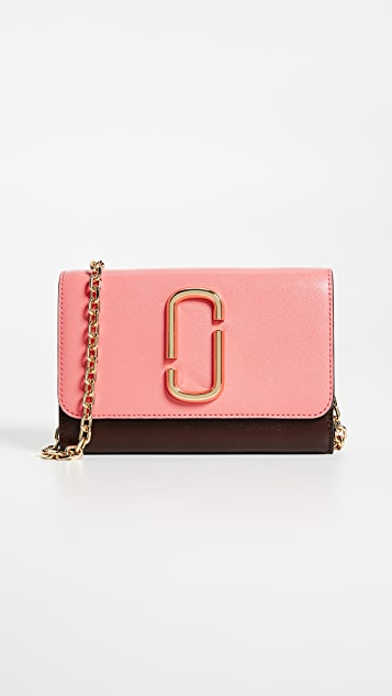 Black and Pink Chain Wallet Bag Marc Jacobs 0ij25l4bY4