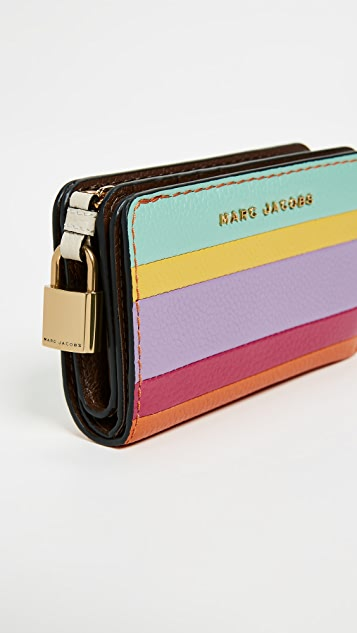 Marc Jacobs The Grind Colorblocked Compact Wallet