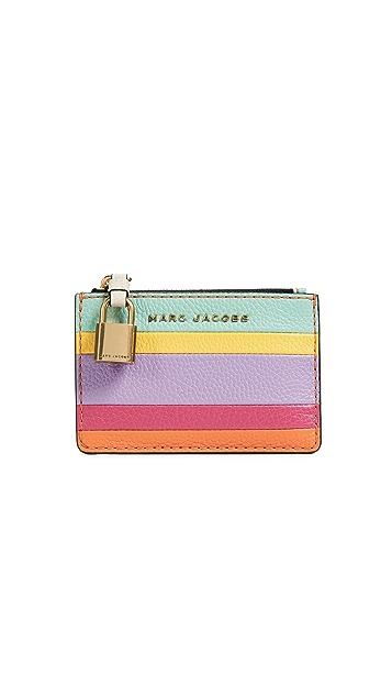 Marc Jacobs The Grind Colorblocked Top Zip Multi Wallet