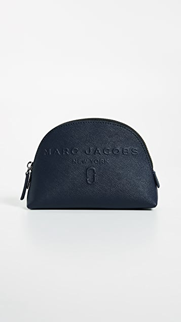 Logo-embossed saffiano-leather small cosmetic case Marc Jacobs LyYZ6