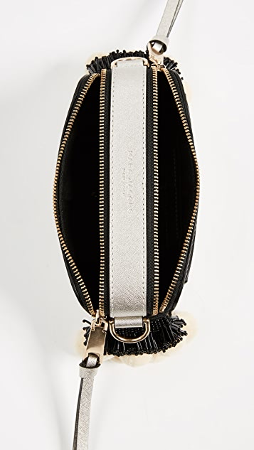 Marc Jacobs Snapshot Bag with Beads and Pom Pom