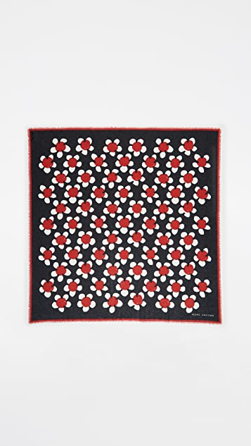 Marc Jacobs Daisy Large Square Scarf