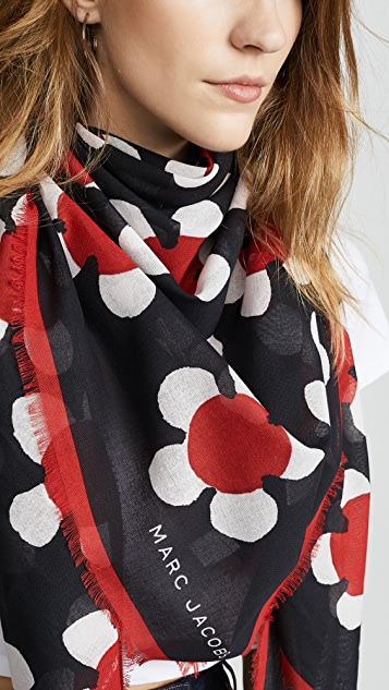 The Marc Jacobs Daisy Large Square Scarf