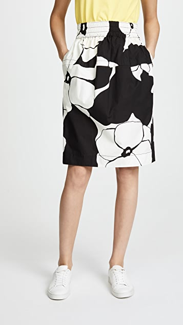 Marc Jacobs Below the Knee Skirt - Black/White
