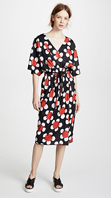 Marc Jacobs Cross Front V Neck Dress