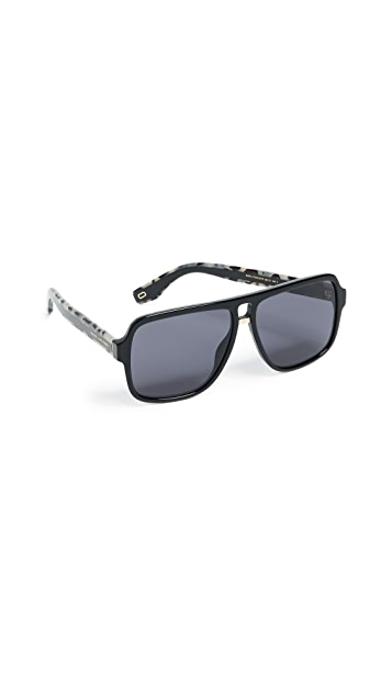 Marc Jacobs Square Aviator Sunglasses