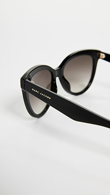 Marc Jacobs Round Slight Cat Eye Sunglasses