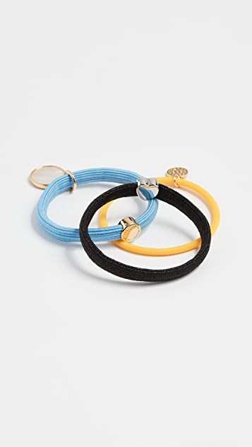 Marc Jacobs Medallion Pony Hair Tie Set