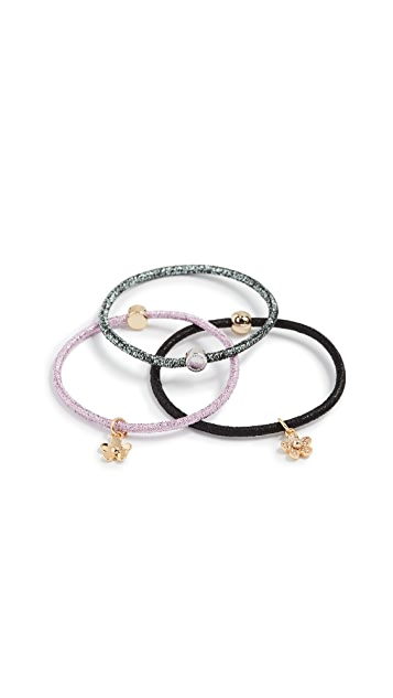 Marc Jacobs Daisy Skinny Pony Hair Tie Set