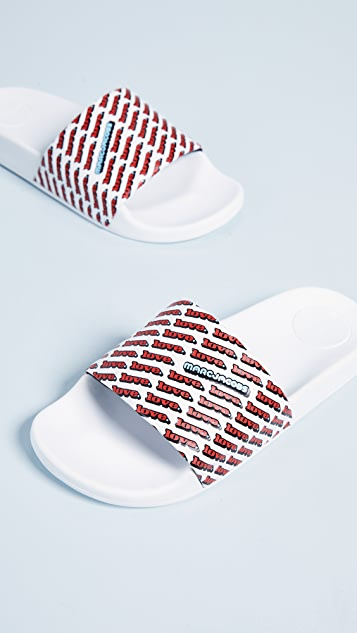 Marc Jacobs Love Aqua Slides