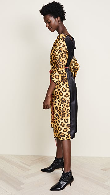 Marc Jacobs Printed V Neck Dress