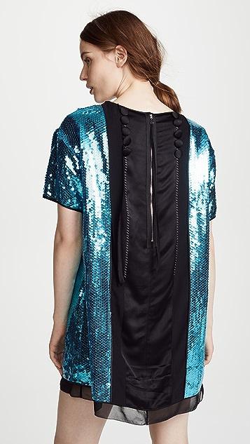 Marc Jacobs Платье с короткими рукавами и бантом спереди