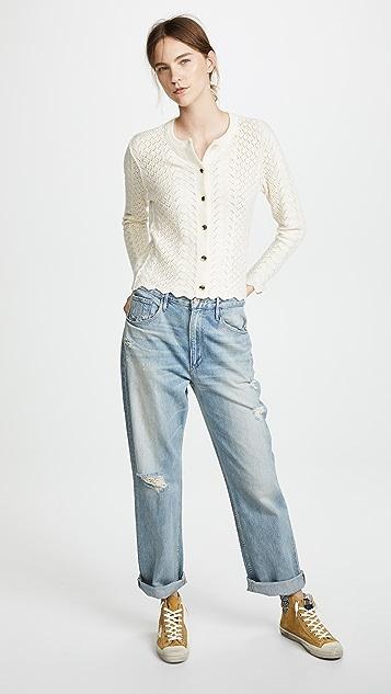 Marc Jacobs Bracelet Sleeve Cashmere Cardigan