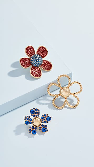 The Marc Jacobs Daisy Pave Brooch Set