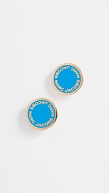 Marc Jacobs Logo Disc Stud Earrings