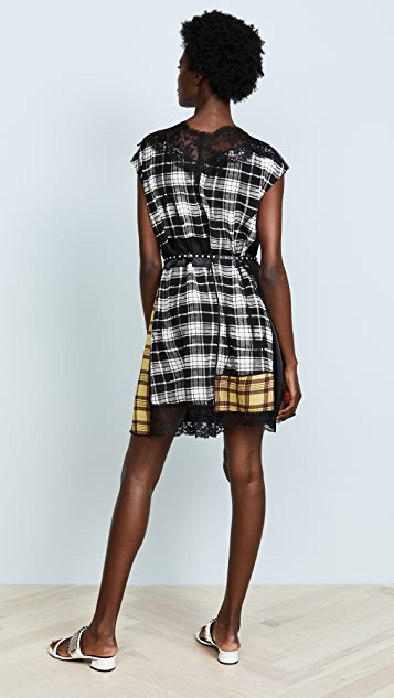 Marc Jacobs Dress with Lace Neckline and Hem
