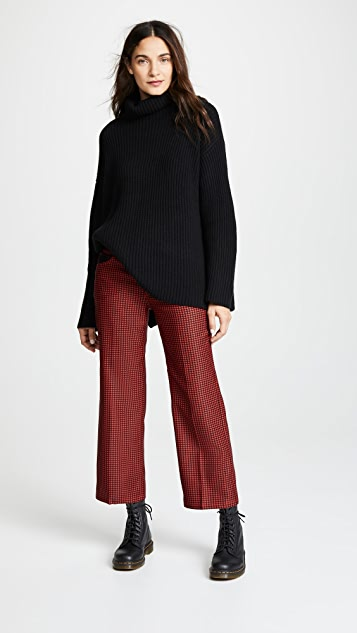 The Marc Jacobs Houndstooth Twill Cropped Pants