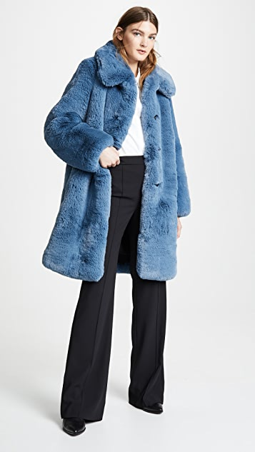 The Marc Jacobs Plush Faux Fur Coat with Collar