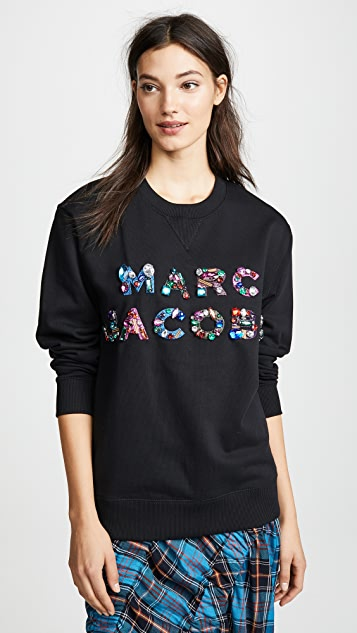 Marc Jacobs Lux Sweatshirt with Crystals