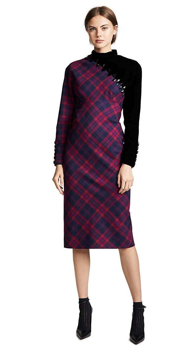 The Marc Jacobs Embroidered Plaid Dress Shopbop