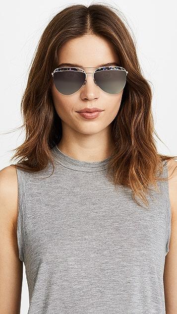 Marc Jacobs Top Frame Aviator Sunglasses