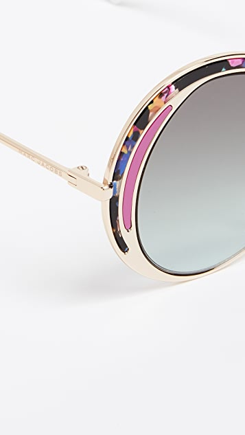 The Marc Jacobs Top Frame Round Sunglasses