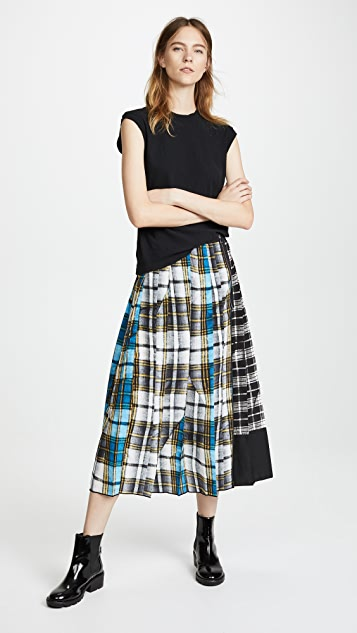 Marc Jacobs Long Plaid Skirt with Slit
