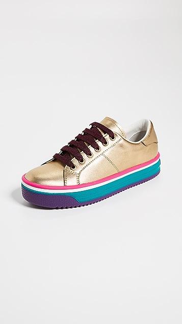 Marc Jacobs Empire Multi Color Sole Sneakers - Gold Multi