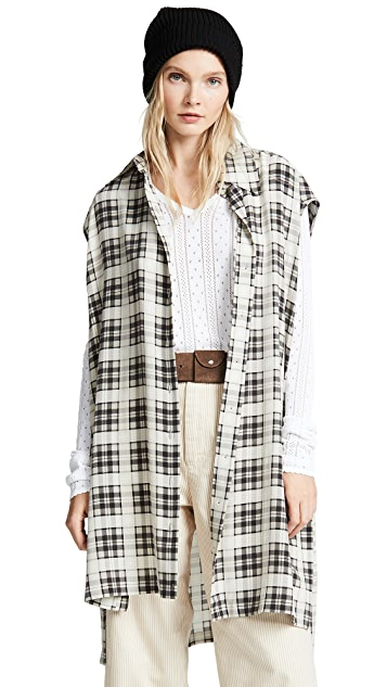 Marc Jacobs Redux Grunge Sleeveless Button Down Top