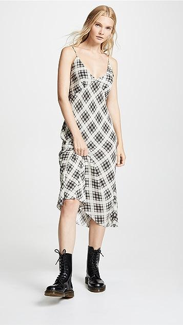 Marc Jacobs Платье до колен Redux косого кроя в клетку в стиле гранж