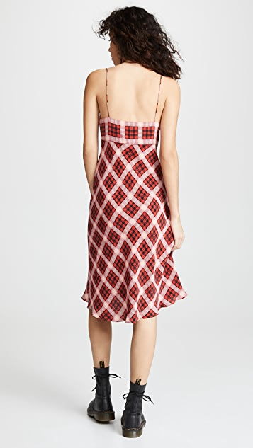Marc Jacobs Redux Grunge Bias Plaid Knee Length Dress