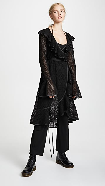 Marc Jacobs Redux Grunge Ruffle Dress with Jumpsuit Lining