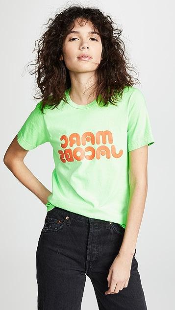 Marc Jacobs Футболка с флуоресцентным принтованным логотипом