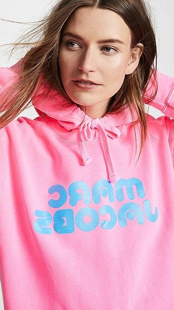 Marc Jacobs Толстовка с капюшоном и флуоресцентным логотипом