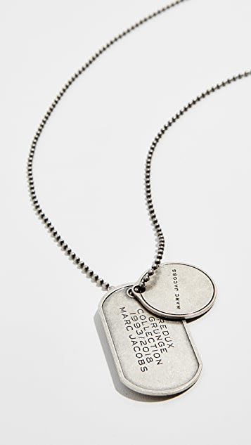 Marc Jacobs Crossbody Dog Tag Necklace