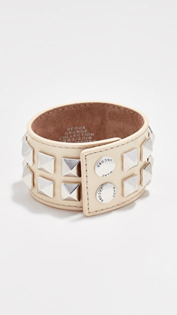 Marc Jacobs Wide Studded Leather Bracelet