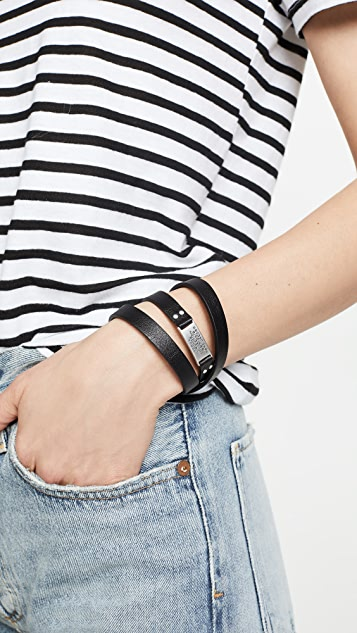 Marc Jacobs Wide Leather Wrap Bracelet