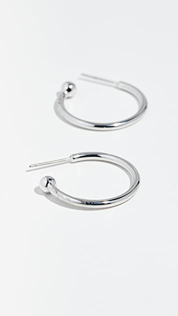 Marc Jacobs Ball End Hoop Earrings