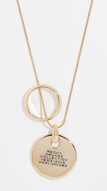 Marc Jacobs Redux Grunge Medallion Pendant Necklace